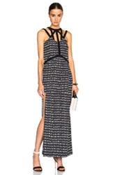 Sass And Bide Rains Rumour Dress In Black Abstract