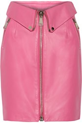 Moschino Leather Skirt Pink