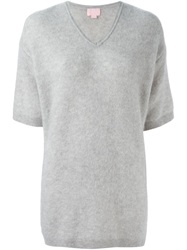Giamba Shortsleeved Loose Sweater Grey