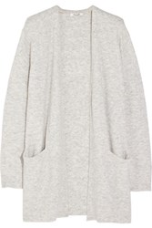 Madewell Ryder Stretch Knit Cardigan Light Gray