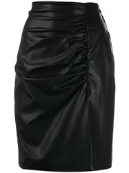 Nineminutes Side Slit Skirt Black