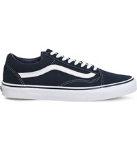Vans Old Skool Canvas And Suede Trainers Dress Blue White