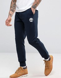 Timberland Slim Logo Cuffed Sweatpants In Navy Dark Sapphire