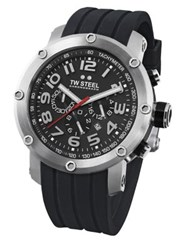 Tw Steel Grandeur Tech Stainless Chronograph Watch Black Silver