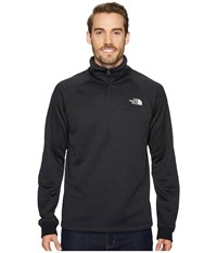 The North Face Norris Point 1 4 Zip Tnf Black Heather Men's Clothing Gray