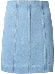Y Project Multi Panel Skirt Blue