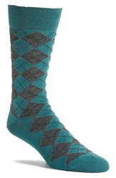 Boss Men's 'John' Argyle Socks Green