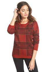 Element 'Peninsula' Plaid Sweater Maroon