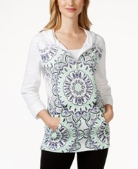 Styleandco. Style And Co. Sport Half Zip Printed Hoodie Only At Macy's