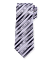 Striped Silk Tie Purple Davidoff