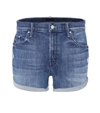 Mother The Teaser Roll Shorts Blue