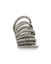 Nine Row Crystal Cocktail Ring St. John Collection