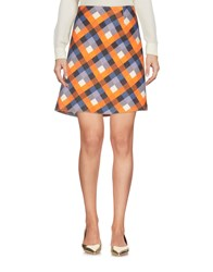 Aquilano Rimondi Knee Length Skirts Orange