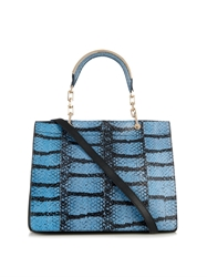 Max Mara Venezia Snakeskin And Leather Bag