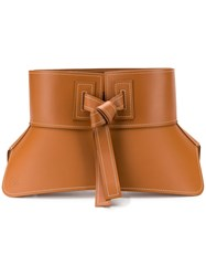 Loewe Sculpted Waist Belt Brown