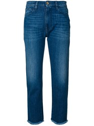 The Seafarer Frayed Cropped Jeans Blue
