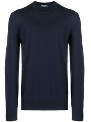 Dolce And Gabbana Crewneck Jumper Blue