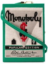 Olympia Le Tan Monopoly Popular Edition Clutch Bag Green