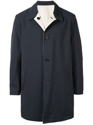 Kent And Curwen Reversible Coat Blue