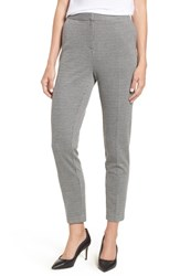 Vince Camuto Mini Houndstooth Skinny Ankle Pants Rich Black