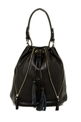 Sondra Roberts Nappa Drawstring Shoulder Bag Black