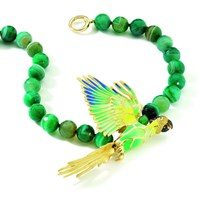 Misis Parrot Necklace With Green Agate
