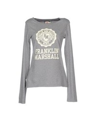 Franklin And Marshall T Shirts Light Grey