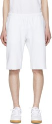 Champion Reverse Weave White French Terry Shorts