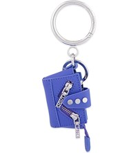 Kenzo Kalifornia Leather Keyring Blue