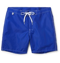 Sundek Rainbow Mid Length Swim Shorts Blue