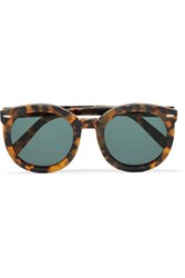 Karen Walker Super Duper Strength Square Frame Acetate Sunglasses Tortoiseshell