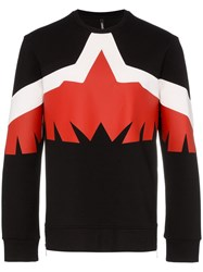 Neil Barrett Modern Eagle Crew Neck Sweater Black