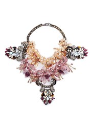 Anabela Chan 'Galatea' Floral Embellished Cluster Bib Necklace Multi Colour