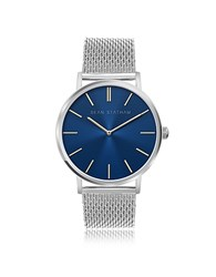 Sean Statham Stainless Steel Unisex Quartz Watch W Blue Dial