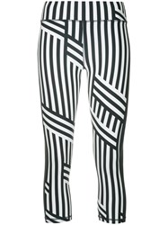 The Upside Striped Cropped Leggings Blue