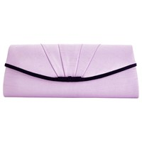 Jacques Vert Stripe Overlay Clutch Bag Lilac