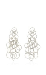 Buccellati Hawaii Short Pendant Earrings Silver