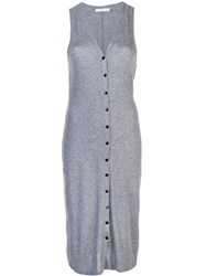 Rag And Bone Buttoned Jersey Dress Grey