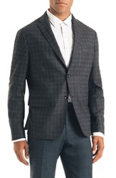 Good Man Brand Uptown Trim Fit Plaid Wool Blend Sport Coat
