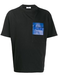 Haikure Larry Contrast Pocket T Shirt Black
