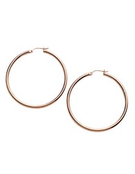 Lord And Taylor 18 Kt Gold Over Sterling Silver Medium Hoop Earrings Rose Gold