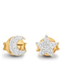 Missoma Women's Moon And Star Stud Earrings Gold