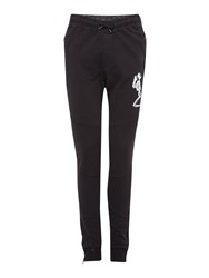 Religion Tapered Leg Large Skeleton Logo Tracksuit Bottoms Black