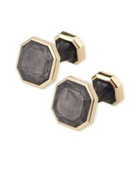 David Yurman Forged Carbon 18K Cuff Links Gold