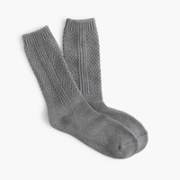 J.Crew Textured Solid Trouser Socks Hthr Pewter