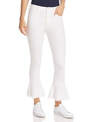 Mother The Cha Cha Fray Cropped Flared Jeans In Glass Slipper