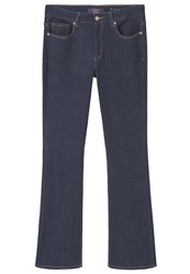 Mango Violeta By Martha Bootcut Jeans Open Blue Dark Blue Denim