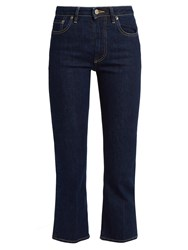 Golden Goose High Rise Cropped Bootcut Jeans Indigo