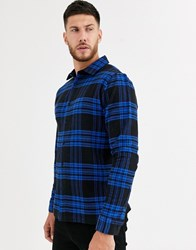 Native Youth Check Shirt Navy
