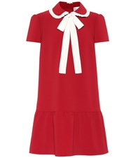 Red Valentino Crepe Dress Red